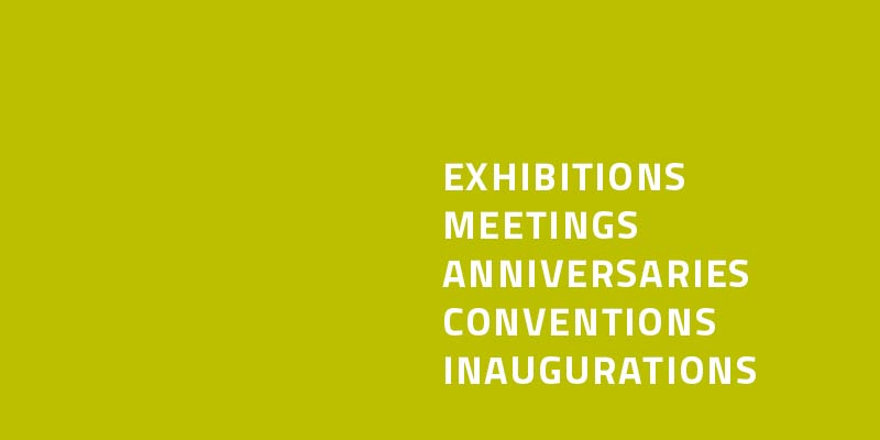 Skooter _ Events, exhibitions, meetings, anniversaries, conventions, inaugurations